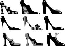 Fashionable women's footwear Royalty Free Stock Images