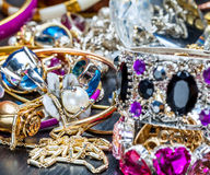 Fashionable women's jewelry Stock Photography