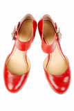 Fashionable women's red shoes Royalty Free Stock Image
