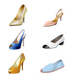 Fashionable women's shoes are on white background. Stock Photography