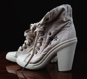 Fashionable women's sneakers Stock Image