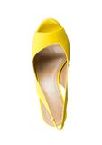 Fashionable women shoe from above Royalty Free Stock Photos
