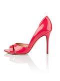 Fashionable women shoe. Pink fashionable women shoe shot in studio Royalty Free Stock Image