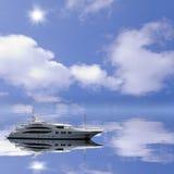 Fashionable yacht. Royalty Free Stock Photo