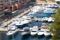Fashionable yachts in Monaco Stock Photo