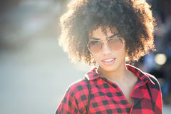 Fashionable young african american woman Royalty Free Stock Image