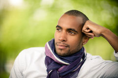 Fashionable young black man Royalty Free Stock Image