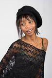 Fashionable young black woman Stock Photography