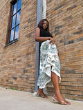 Fashionable young black woman Royalty Free Stock Photography