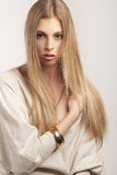 Fashionable young blond woman Royalty Free Stock Photography