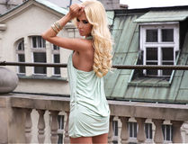 Fashionable young blonde woman. Stock Image