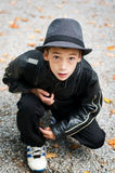 Fashionable young boy Stock Image