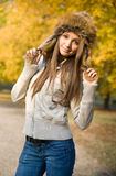 Fashionable young brunette. Royalty Free Stock Photos