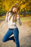 Fashionable young brunette. Stock Photography