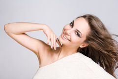 Fashionable young brunette beauty. Stock Photography