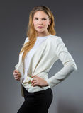 Fashionable young businesswoman Royalty Free Stock Photos