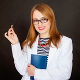 Fashionable young female doctor. Royalty Free Stock Photos