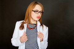 Fashionable young female doctor. Stock Photo