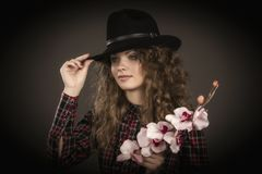 The fashionable young girl. Stock Photography