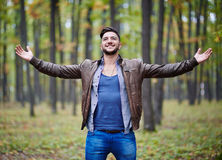 Fashionable young man Royalty Free Stock Images
