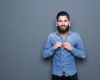 Fashionable young man with piercings Royalty Free Stock Photos