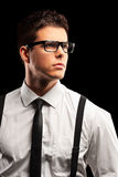 Fashionable young man with tie posing Stock Photos