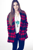 Fashionable young model posing with trendy clothes Royalty Free Stock Photography