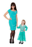 Fashionable young mother with a young daughter Stock Photo