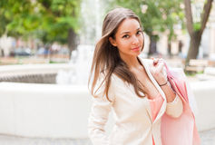 Fashionable young shopper. Stock Photography