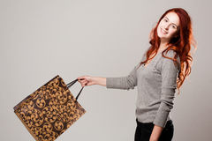 Fashionable young shopper. Stock Images