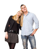 Fashionable young student couple. Stock Images