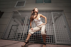 Fashionable young woman Royalty Free Stock Photography