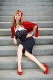 Fashionable young woman Stock Photos
