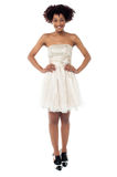 Fashionable young woman in corset dress Royalty Free Stock Photo