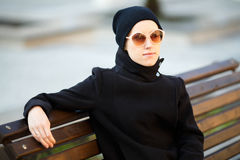 Fashionable young woman Royalty Free Stock Images