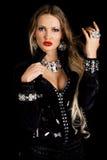 Fashionable Young Woman Studio Portrait Stock Photo