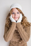 Fashionable young woman in winter outfit. Stock Image