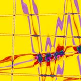 Fashionable zigzag abstract yellow rbackground royalty free illustration