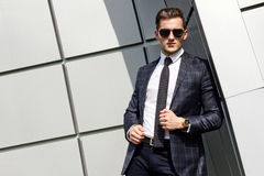 Fashionably dressed man in the background Stock Photos