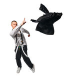 Fashionate hip-hop young man on white Stock Photo