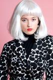 Fashionista in platinum wig Stock Photos