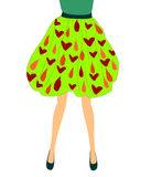 Fashions for young girls full skirt with an abstract pattern Royalty Free Stock Photos