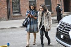 Fashionweek纽约2015年2月14日 免版税库存照片