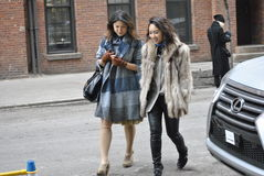 Fashionweek New York City februari 14 2015 Royaltyfri Foto