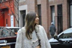 Fashionweek New York City februari 14 2015 fotografering för bildbyråer