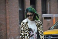 Fashionweek New York City februari 14 2015 arkivbilder