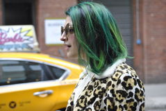 Fashionweek New York City februari 14 2015 royaltyfri bild