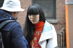Fashionweek New York City februari 14 2015 Royaltyfri Fotografi