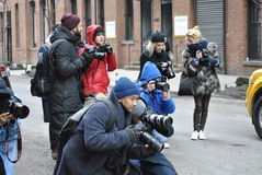 Fashionweek New York City februari 14 2015 arkivfoto