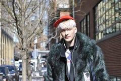 Fashionweek New York City februari 2015 Fotografering för Bildbyråer